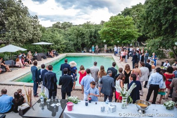 Evenementiel mariage vin d'honneur piscine